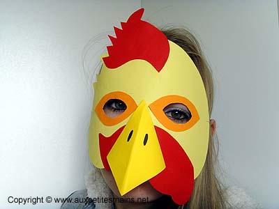Masque de coq - Image de coq a imprimer ...